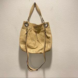 Coach Madison Large Apricot Pebbled Leather Bag